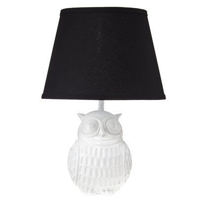 owl lamp. $39.99  yes, please.Black Shades, Lampshades, Lamps Shades, Nurseries, Black And White, Owls Lamps, Night Owls, White Owls, Target