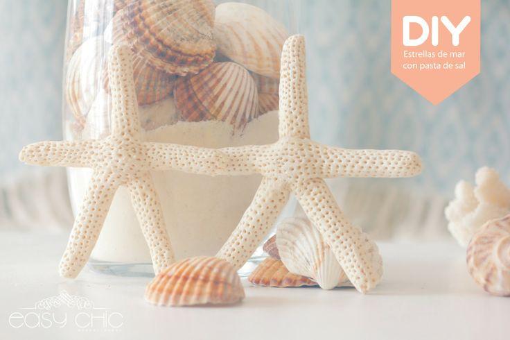 DIY: como hacer estrellas de mar modelando con pasta de sal - DIY starfish