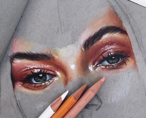 WANT A SHOUTOUT ? CLICK LINK IN MY PROFILE !!! Tag #DRKYSELA Repost from @essiarts eyezz - i might not finish this bc eh - @prismacolor on @strathmoreart paper via http://instagram.com/zbynekkysela