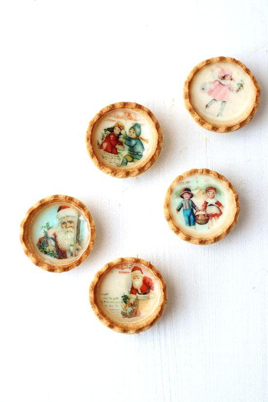... christmas mini pies (panna cotta and grape jam tarts) ...