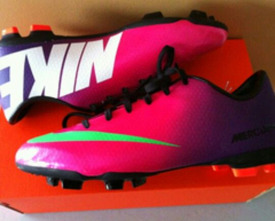Cute soccer cleats