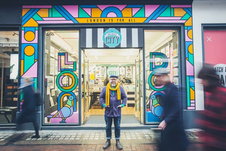 Supermundane sends out a message of inclusivity with shopfront mural for London's creative-led souvenir store We Built This City...
