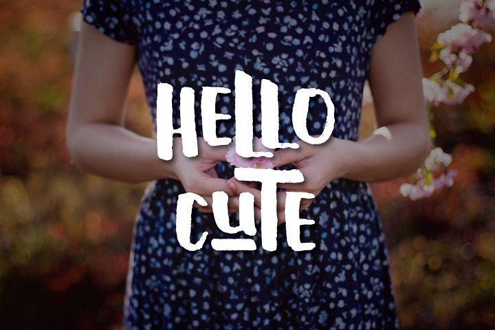 Hello Cute from FontBundles.net