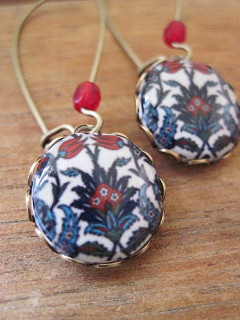 Islamic jewelry Turkish jewelry Iznik tile by ShrunkenCatHeads