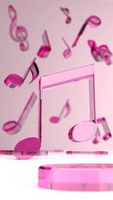 待受 背景 素材 ブログ -スマホ壁紙-音符の画像 プリ画像