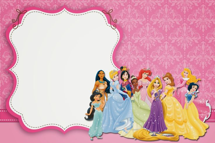 Disney Princess Party: Free Printable Party Invitations. | Is it for PARTIES? Is it FREE? Is it CUTE? Has QUALITY? It´s HERE! Oh My Fiesta! in english
