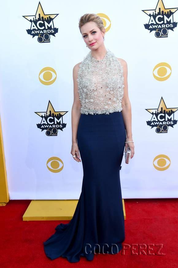 Beth Behrs & Miss America Kira Kazantsev Are Silver Sparkling Sirens At The ACM Awards | CocoPerez.com