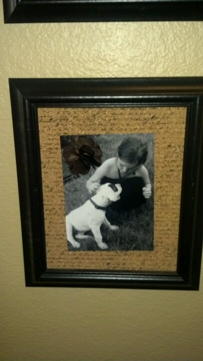 how to put brown paper backing on a frame picture
