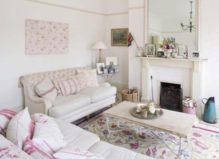 Die besten 25+ Shabby chic salon Ideen auf Pinterest Shabby chic - shabby chic deko wohnzimmer