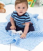 LW2309 One-Ball Baby Blanket: Crochet Blankets, Babies, One Ball Baby, Free Pattern, Blue Skies, Baby Blankets, Crochet Patterns