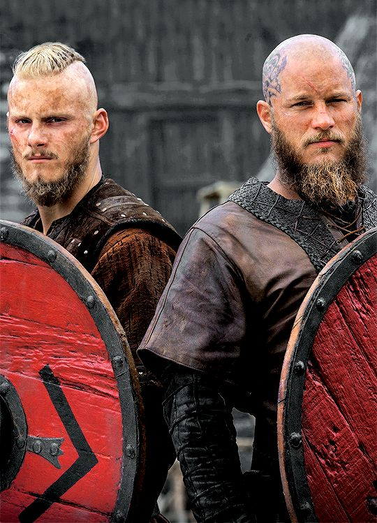 "bjornstark: "" ""Vikings' Bjorn Ironside & Ragnar Lothbrok 