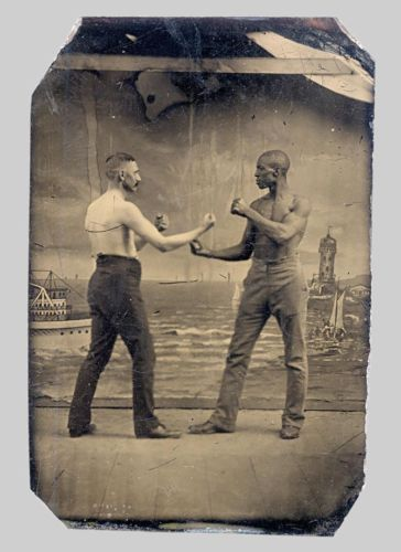 tintype-photo-black-man-white-bare-knuckle-boxing-rare-antique-original