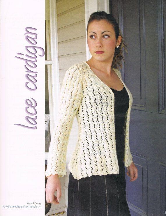 7c2ab339a Lace Cardigan Womens s Sweater Knitting Pattern