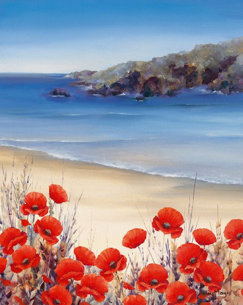 Poppies by the Sea - Hilary Mayes - IG 4877