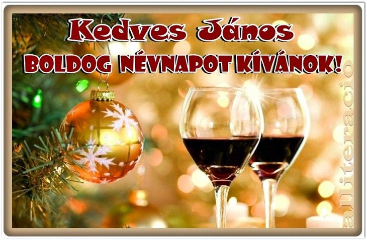 névnap, János, karácsony, bor, képeslap, képek,