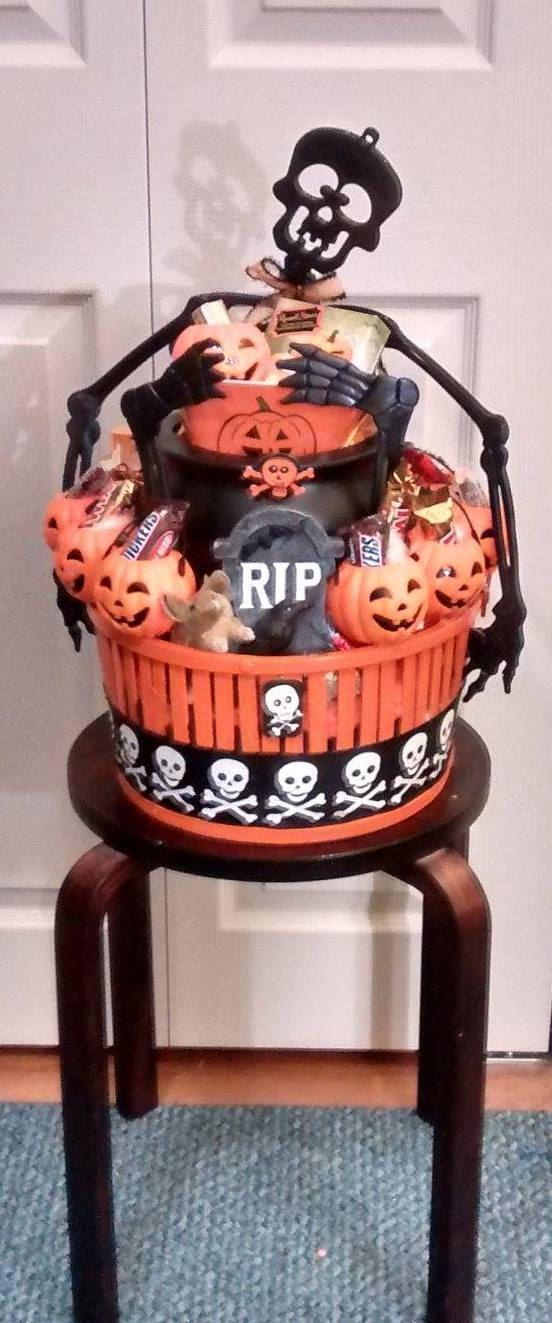 HANDMADE Funny Bone Black Skeleton With Candy Filled Jack ...