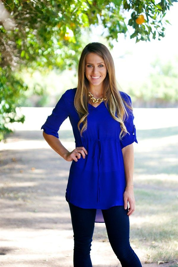 Tunic Blouse - now this is what I call a Fall/Winter staple! Love this electric blue.