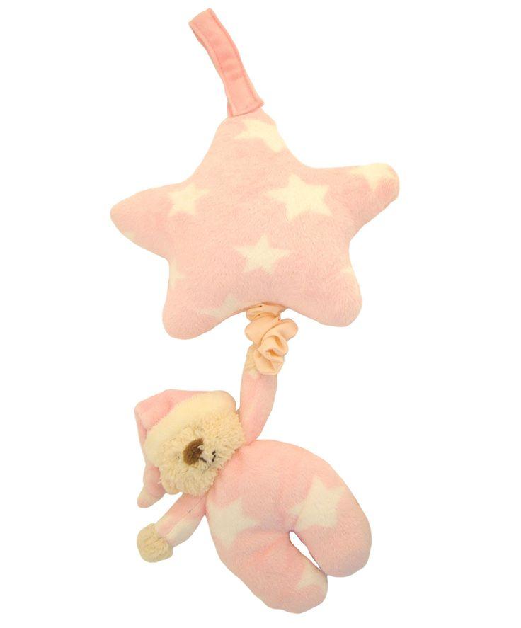 Pink Bedtime Bear Musical Pull