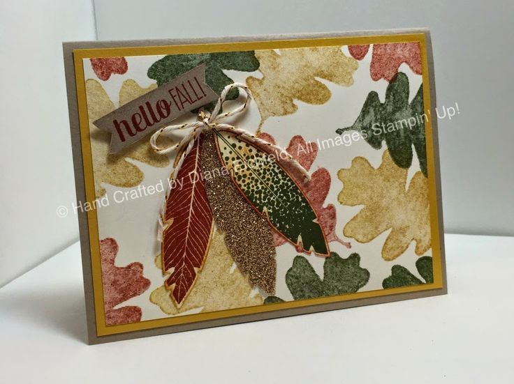 Stampin' Fun with Diana: Stylin' Stampin' INKspiration Watercolor Wednesday: For All Things, For all Things, Four Feathers, Big Shot, Framelts, Fall, Stampin' Up, Diana Eichfeld