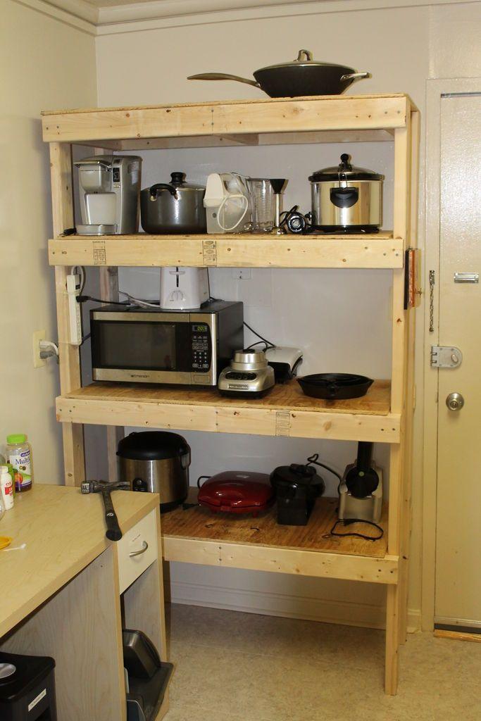 17 best ideas about diy storage shelves on pinterest for Cheap kitchen organization ideas