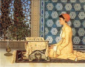 Girl Reciting Qu'ran - Osman Hamdi