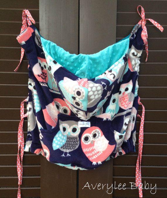 Baby Wearing Cozy Baby Carrier Jacket Fleece Owls Coat