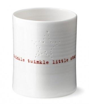 'Twinkle twinkle little star' tealight holder by Anne Black, $46.95
