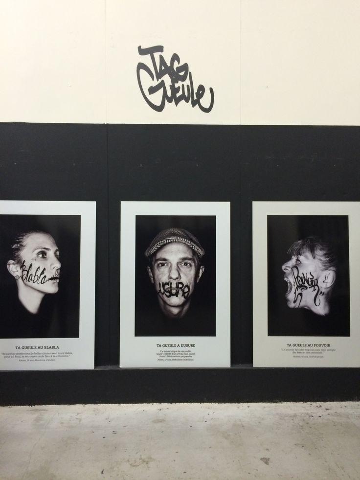 Ta gueule joli projet écrire des mots sur des visages #expo #minsterfreeze #toulouse