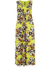 Evans Lime Tropical Printed Maxi Dress - Evans