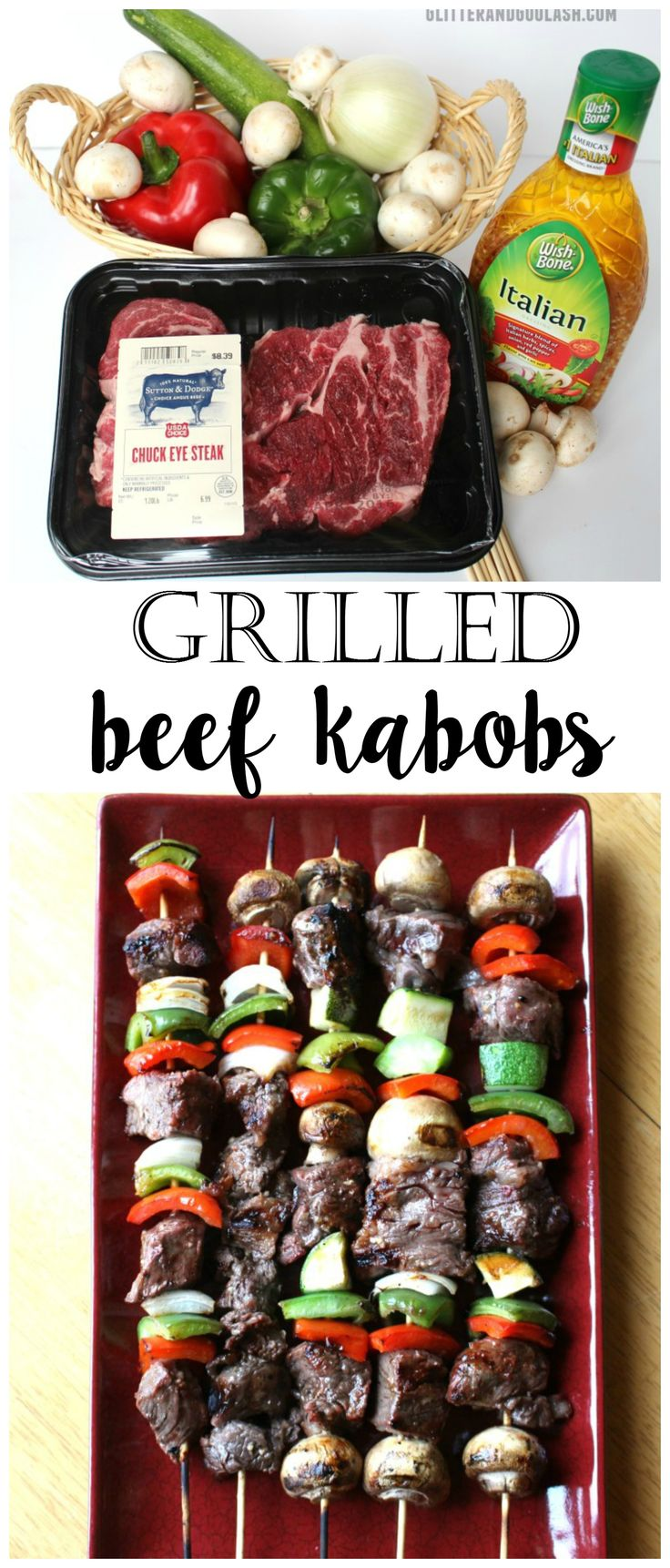 Grilled Beef Kabobs - Yummmm this recipe is so good for a summer BBQ meal!