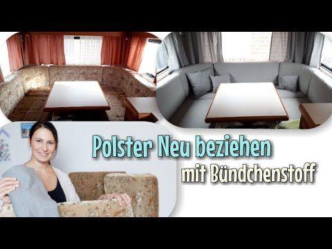 Wohnwagenpolster Neu beziehen – Mit Bündchen Stoff – Ohne nähen möglich – Nähtinchen – YouTube – Anja Schober