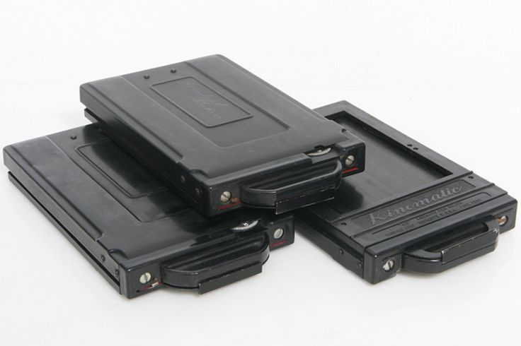 Three 3 Kinematic 4x5 Film Holder Backs Grafmatic Clone But 10 Shots Magazine | eBay