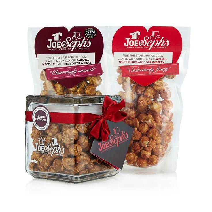 Joe & Seph's Popcorn set regalo: 1 barattolo in vetro + 2 buste