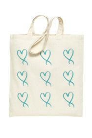 Ovacome Charity Ribbon Print Shopping Bag at Apricot. ALL PROFIT going to the Ovacome charity.