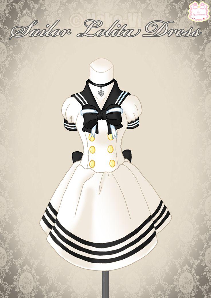 Sailor Lolita Dress by Neko-Vi  http://neko-vi.deviantart.com/art/Sailor-Lolita-Dress-160267681