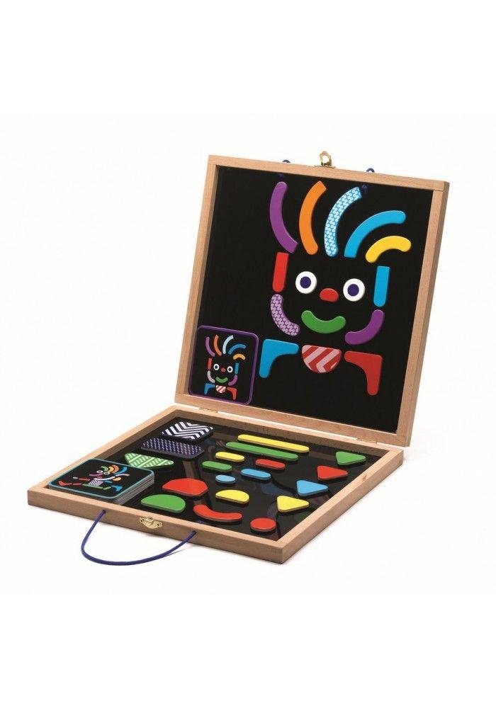 Djeco Koffer: magnetische geobonhomme