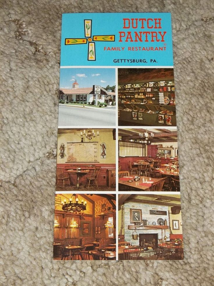 Vintage Dutch Pantry Family Restaurant Gettysburg Pennsylvania Long Postcard PA