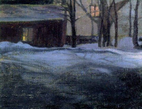 """Talvi-ilta"" (Winter Evening) - Ellen Thesleff (Finnish, 1869-1954)"