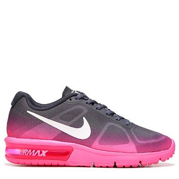 Nike Women's Air Max Sequent Running Shoes (Grey / Pink)