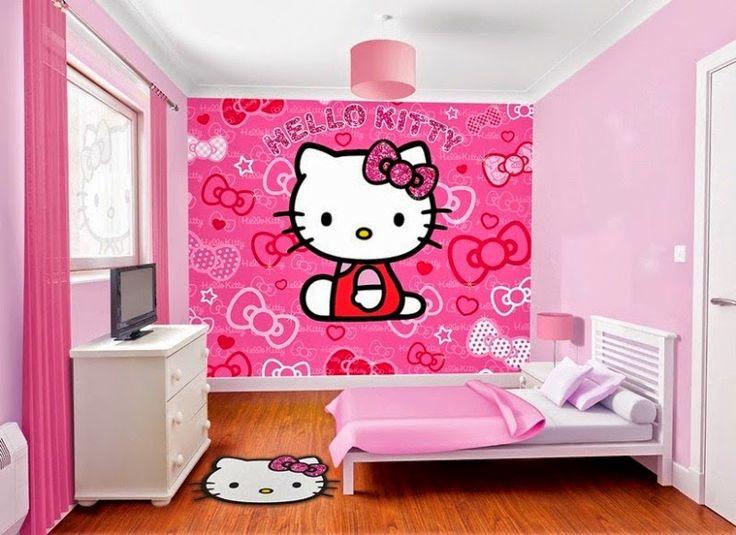 Gambar Wallpaper Dinding Hello Kitty Untuk Ruang Tamu Dan