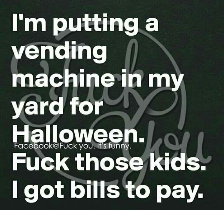 Halloween crude humor