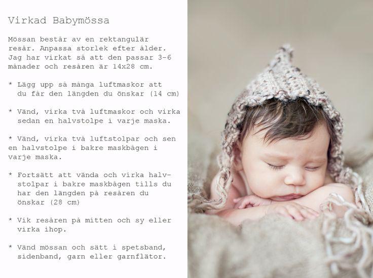 Pastill.nu - mönster virkad babymössa