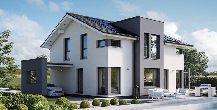 Concept-M 167 - Bien Zenker - http://www.hausbaudirekt.de/haus/concept-m-167/ - Fertighaus als Designhaus Einfamilienhaus Modernes Haus Stadthaus Stadtvilla mit Satteldach