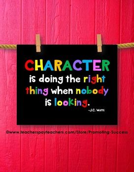 FREE Download Character Quote, Colorful Classroom Decor, Motivational Poster