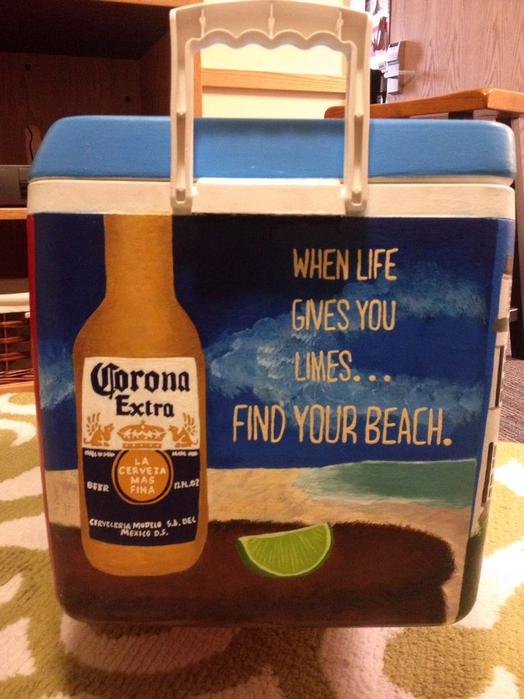 Corona Extra Logo inspired side of my cooler!
