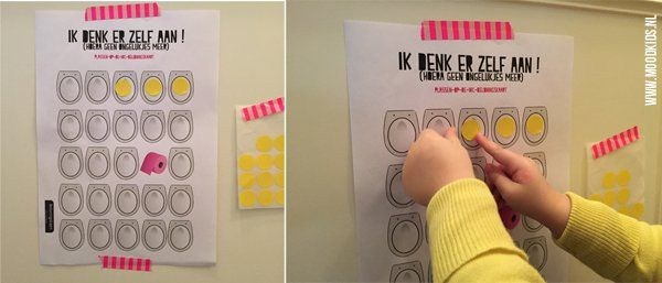 Beloningskaart wc plassen jongen of meisje. Leuke download van Moodkids.