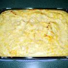 Foto recept: Witte kool met aardappelpuree uit de oven