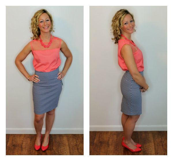 March Stitch Fix Review Margaret M Christiana Printed Pencil Skirt