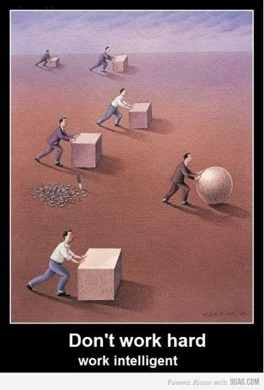 No trabajes duro, trabaja inteligentemente :)