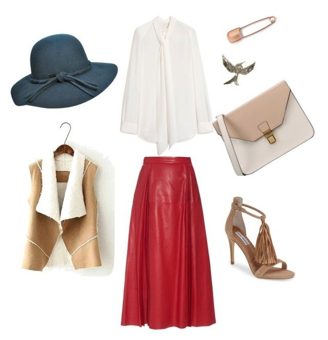 """Театр"" by olga-lukina on Polyvore featuring Steve Madden, Mulberry, Gucci, Betmar, 8 and Mara Hotung"